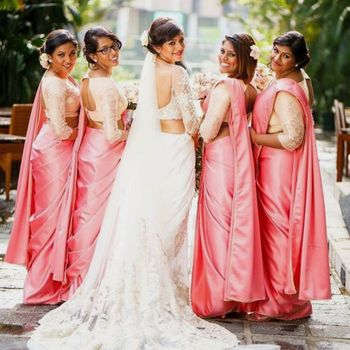 A Christian bride with her bridesmaids