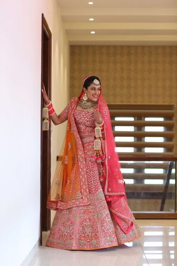 Hot pink bridal lehenga for Sikh bride