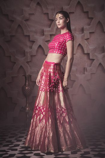 Photo of pink silk lehenga