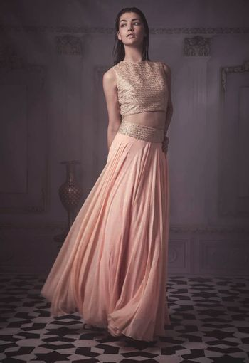 Photo of pastel pink lehenga