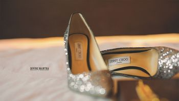 Sparkly silver jimmy choos