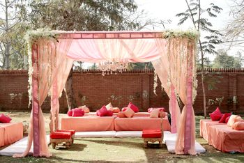 Photo of pink theme decor