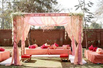 Photo of pink theme decor
