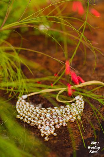 Polki necklace photography