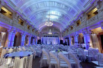 blue indoor banduqet decor