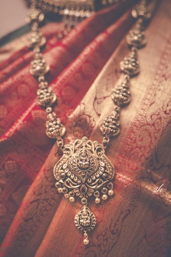 Gold rani haar temple jewellery
