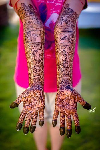 Funky bridal mehendi design