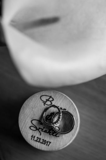 Engagement ring photo with personalised coaster