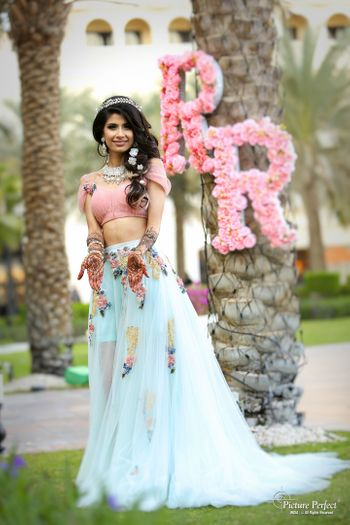 Photo of Pastel lehenga with Disney princess look