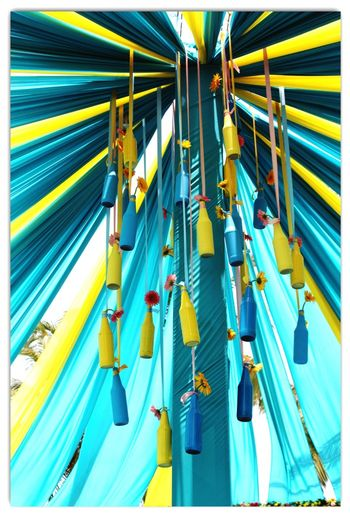 Turquoise and Yellow Canopy Decor