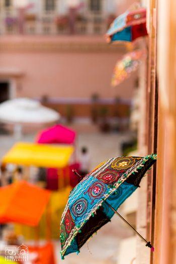 Rajasthani umbrella decor