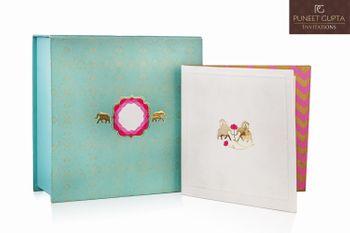 Photo of elegant invitations