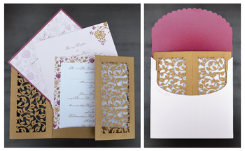 Photo of laser cut wedding cards