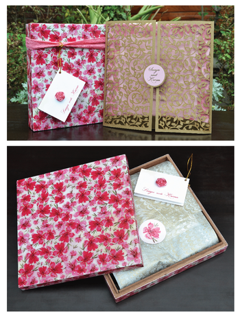 Photo of wedding card with box