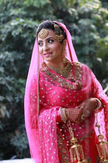 Pink punjabi wedding lehenga