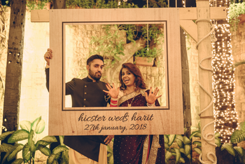 Photo of Rustic hanging personalised photobooth