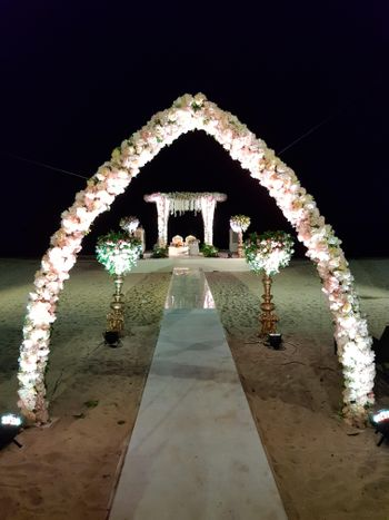 Photo of Unique beach wedding mandap decoration