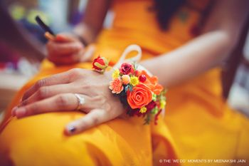 Pretty floral jewelry for  mehendi