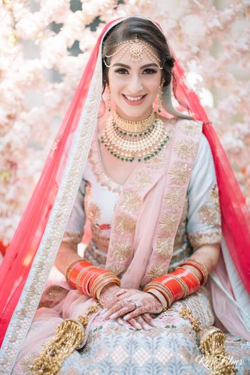 Colourful bridal lehenga offbeat