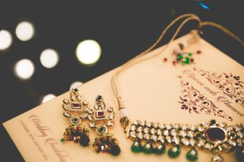 Traditional Bridal Jewelry with Emerald Beads