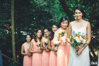 Bride with Bridesmaids Shot