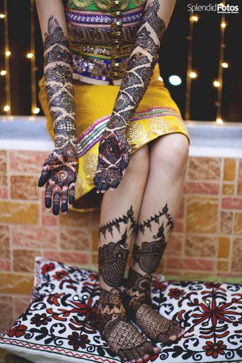Bridal Hand and Feet Mehendi Design - Peacock