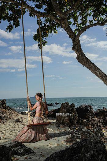 Bridal shoot on beach