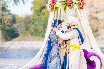 Photo of Intimate wedding setting jaimala