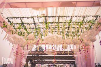 Elegant morning wedding decor