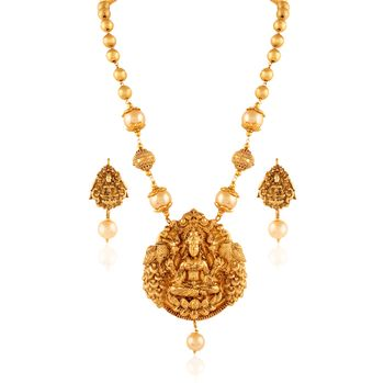 gold temple jewellery pendant