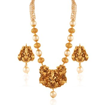 long gold jewellery necklace