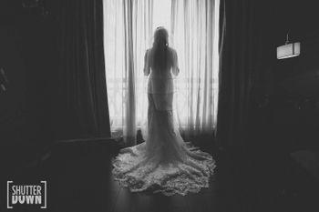 bride looking away shot