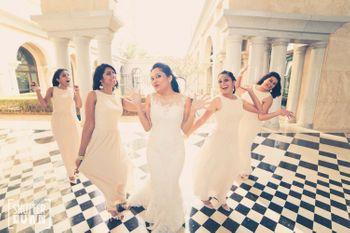 bride and bridesmaids shot