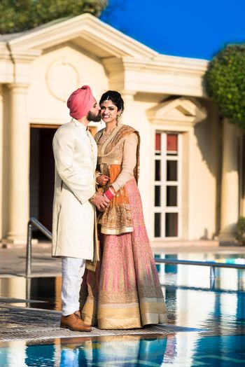 Sikh bride and groom