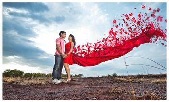 romantic couple shot