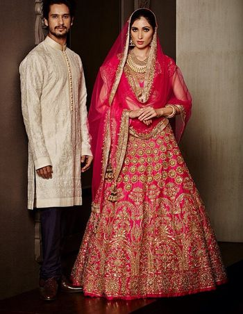 red bridal lehenga  by Manish Malhotra