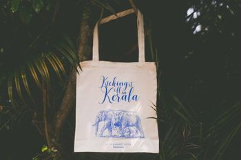 Wedding favour idea personalised tote bags
