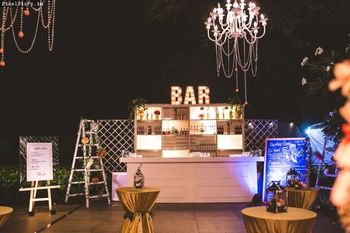 A modern bar setup!