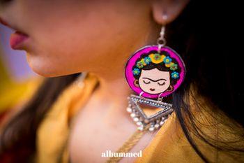 Quirky mehendi jewellery earrings