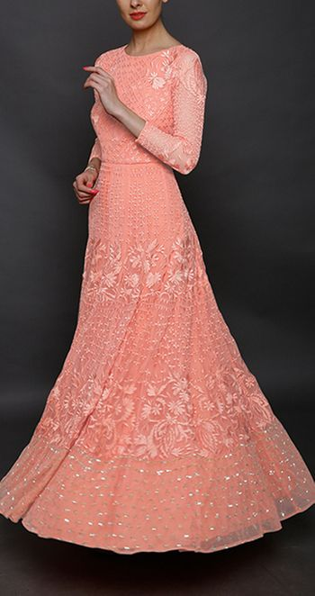 engagement gown in light pink