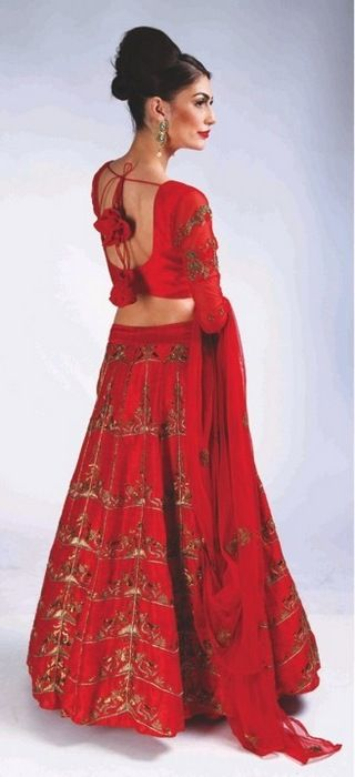 Photo of modern bridal lehenga