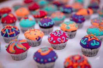 Photo of Henna cupcakes as mehendi favours