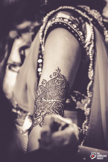 Bride Getting Mehendi Shot
