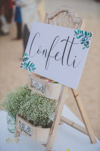 Photo of Babys breath confetti to throw at wedding