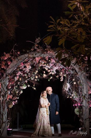 Floral archway for wedding