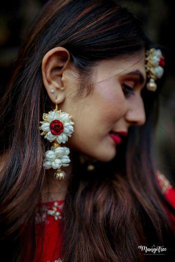 Floral earrings for mehendi
