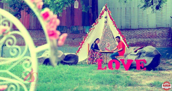 Glamping Pre Wedding Shoot with Props