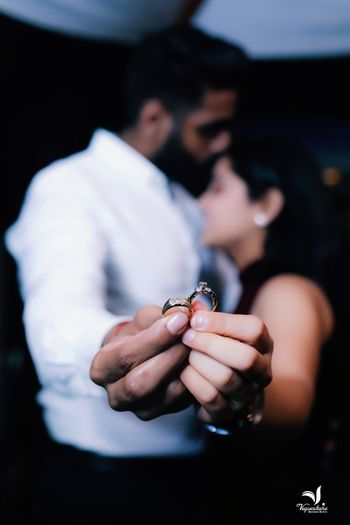 Couple pre wedding shoot with engagement rings
