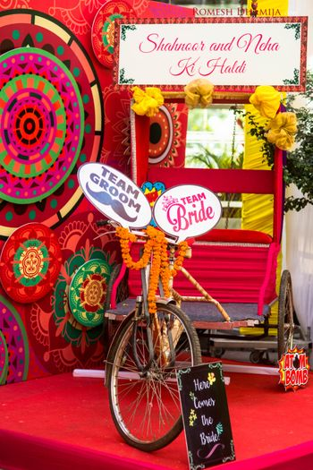 Photo of colorful photobooth decor