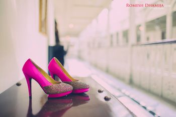 Photo of Hot pink Bridal Shoes